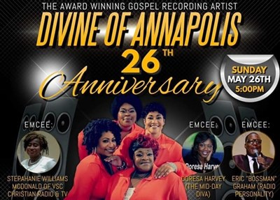 Divine of Annapolis Anniversary Concert poster