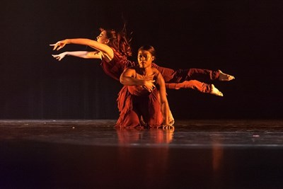 Brittney London & Alyssa Archer in Chasm; Artistic Director Lauren Tait