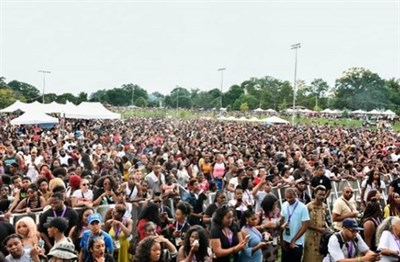 crowd at the afram festival