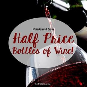 Half Price Bottles of Wine