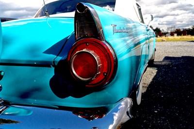 vintage blue Thunderbird