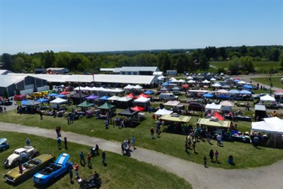 An aerial view of Hampstead Day Festival