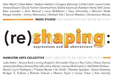 (re)shaping: expressions and abstractions poster