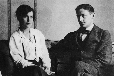 T.S. Eliot and his first wife, Vivienne Haigh-Wood.