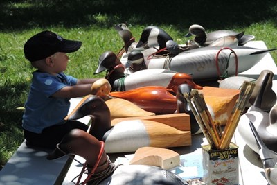 Little boy with decoys at St. Clement's Island Heritage Day