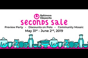 Seconds Sale Preview Party Banner
