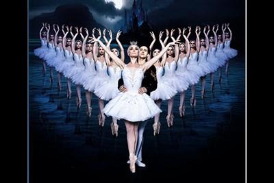 Ballet Dancers on stage performing Swan Lake