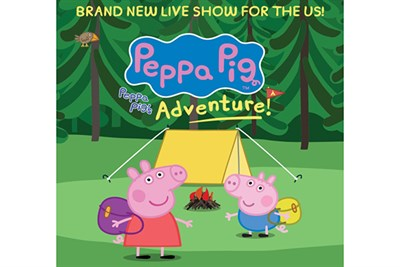 Peppa Pig's Adventure's colorful poster