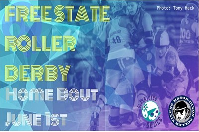 Free State Roller Derby poster