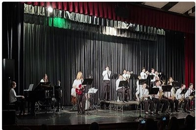Havre de Grace High School Jazz Band on stage