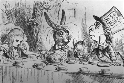An illustration from Alice in Wonderland