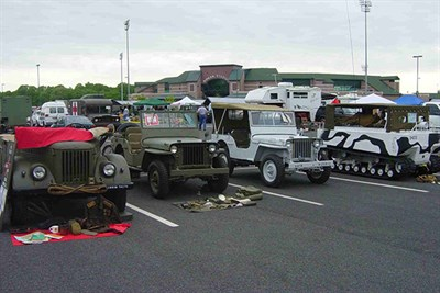Military Vehicles at Ripken Stadium