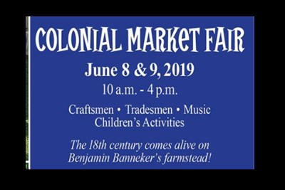 Colonial Market Fair Poster