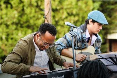 Rising Stars playing music in the park