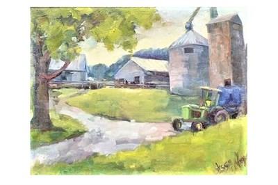Plein Air Painting of a Barn