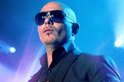 Pitbull on stage and in concert