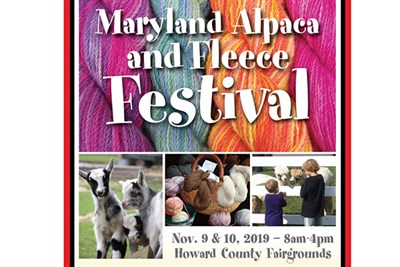 Maryland Alpaca and Fleece Festival sign