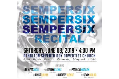 Semper Six Recital Poster