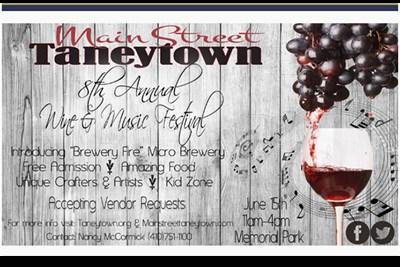 Taneytown Wine, Art & Music Festival poster