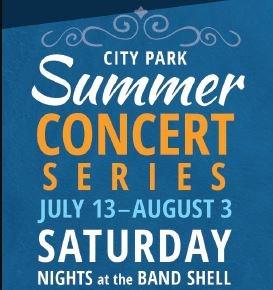 City Park Summer Concert Series poster