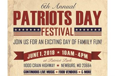 6th Annual Patriots Day Festival flyer