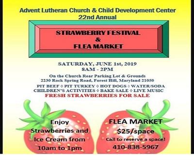 Strawberry Festival & Flea Market poster
