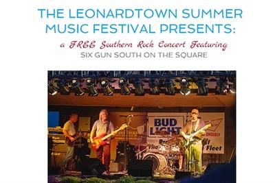 Leonardtown Music Festival Six Gun South poster