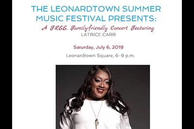 Leonardtown Music Festival Latrice Carr poster