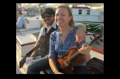 Matt & Katie aboard the Woodwind