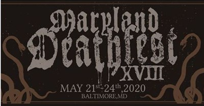 Maryland Deathfest 2020 flyer