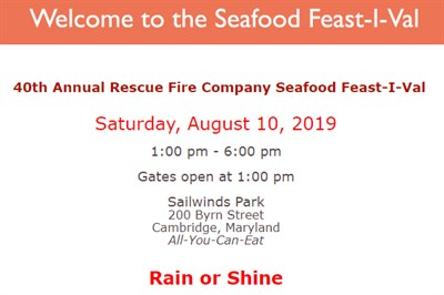 Seafood Feast-I-Val invitation