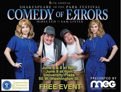 MEG presents Comedy of Errors Poster