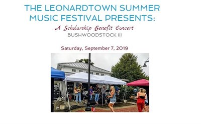 People enjoying the Leonardtown Summer Music Festival