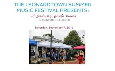 People enjoying the Leonardtown Summer Music Festival
