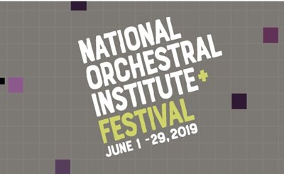 National Orchestral Institute + Festival poster
