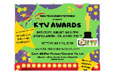 Kids TV Awards flyer