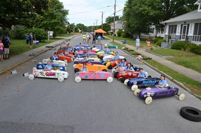 Racers are ready for the Soap Box Derby