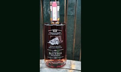 A bottle of Tobacco Barn Distillery's