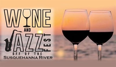 Wine and Jazz Fest Logo and Banner