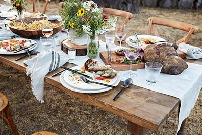 Farm to table dinner.