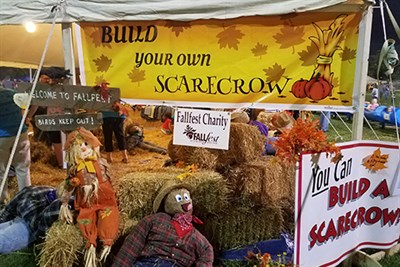 Scarecrows at Fallfest