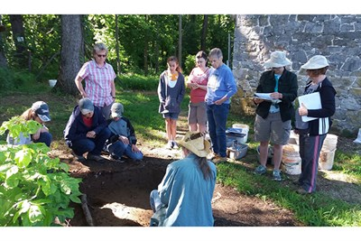 Archaeology dig at the Saylor House