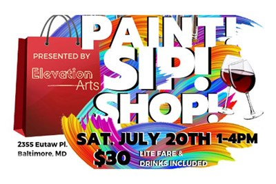 Paint, Sip & Shop with Elevation Arts Poster