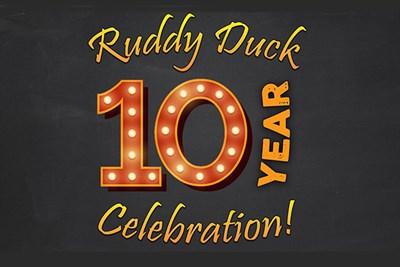 Ruddy Duck 10 Year Celebration poster