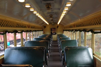 Inside a Historic Rail Car