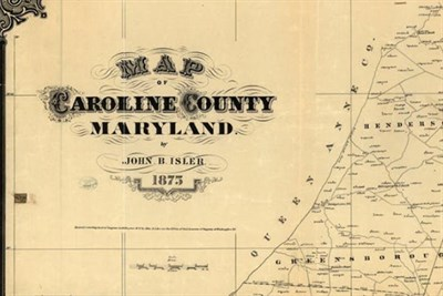 Vintage map of Caroline County