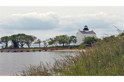 St. Clement's Island and the Blackistone Lighthouse.