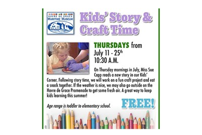 Kids' Story & Craft Time poster