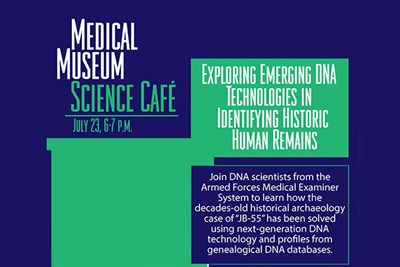 July 2019 Medical Museum Science Cafe poster