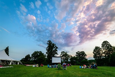 Movie on the grounds of Belmont Manor